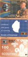 Swaziland - A Century Of Scouting 1907-2007, Scouts Of Swaziland, Set Of 3, Remote Memory, 1/2/3 £, Mint - Swaziland