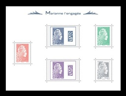 France 2018 Mih. 7073/75 7077/78 (Bl.399) Definitive Issue. New Marianne MNH ** - France