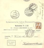 """NN Karte  """"Schweiz. Lehrer Waisenstiftung, Zürich"""" - Willisau         1912 - Suisse"""
