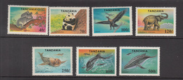 1994 Tanzania Endangered Animals Panda Elephant Koala Shark Whale Complete Set Of 7 MNH - Tansania (1964-...)