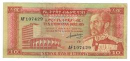 Ethiopia 10 Dollars , 1966. VF. - Ethiopia