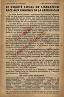 1944 POLITIQUE LIBERATION DE LA France PARTI SOCIAL FRANÇAIS OPPOSITION AVEC  LE PARTI COMMUNISTE PARIS 13° Arr - Documents Historiques