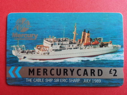 UK - MERCURY - CABLE SHIP SIR ERIC SHARP 1989 BOAT - 15MER RR - United Kingdom