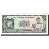 Billet, Paraguay, 5 Guaranies, KM:195a, NEUF - Paraguay