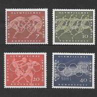 Germania Repubblica Federale 1960  Giochi Olimpici Di Roma  Serie Completa Nuova/mnh** - [7] Repubblica Federale
