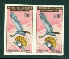 Congo C49-51 Birds, Non Dentele Paires, Neuf** Sans Charniere, Mint NH, Yvert PA 51-53 Non Dentele - Congo - Brazzaville