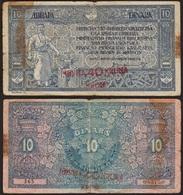 10 DINARA / 40 KRUNA 1919 YOUGOSLAVIE / YUGOSLAVIA - P17 - Yugoslavia
