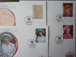 GHANA QUEEN MOTHER 95TH BIRTHDAY FDC [4] - Ghana (1957-...)