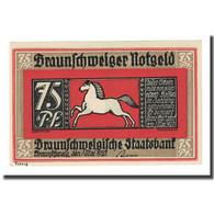Billet, Allemagne, Braunschweig, 75 Pfennig, Eglise 1, 1921, 1921-05-01, SPL - Germany