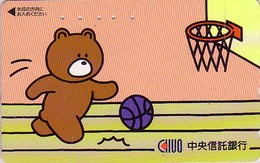 Télécarte Japon / 110-011 - BD Comics - Animal Série OURS CHUO / Sport BASKET BALL - Teddy BEAR  Japan Phonecard - 549 - Comics