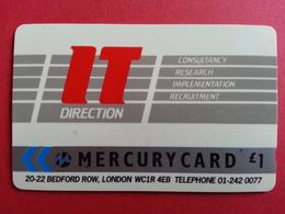 UK - MERCURY - IT DIRECTION CONSULTANT LONDON - 18MERC - United Kingdom