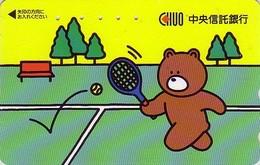 Télécarte Japon / 110-011 - BD Comics - Animal Série OURS CHUO / Sport TENNIS - Teddy BEAR  Japan Phonecard - 551 - Comics