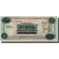 Billet, Nicaragua, 10,000 Córdobas On 10 Córdobas, KM:158, TB+ - Nicaragua