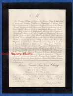 Document De 1889 - PARIS Rue D'Aumale - François Jean Comte CLARY Sénateur De L' Empire , Etoile Polaire De Suède - Documents Historiques