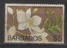 COLONIE INGLESI  BARBADOS 1974 SERIE ORDINARIA FIORI YVERT. 387 USATO VF - Barbados (1966-...)