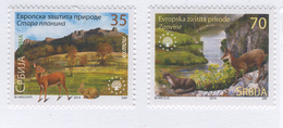 SERBIA 2014 European Nature Protection, Scott #s 663-664 MNH - Serbia