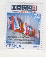 SERBIA 2015 Organization For Security And Cooperation In Europe (OSCE), Scott # 716 MNH - Serbia