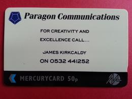 UK - MERCURY - PARAGON COMMUNICATION JAMES KIRKCALDY - 18MERD - United Kingdom
