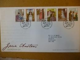 GREAT BRITAIN [GB] SG 31XX JANE AUSTEN (2013)  FDC STEVENAGE BASINSTOKE - FDC