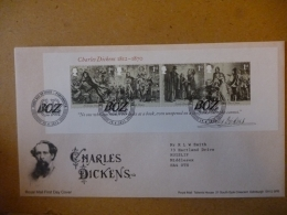GREAT BRITAIN [GB] SG 30XX CHARLES DICKENS MS (2012)  FDC PORTSMOUTH - FDC