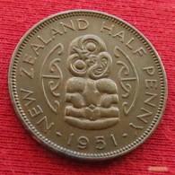 New Zealand 1/2 Half Penny 1951 KM# 20  Nova Zelandia Nuova Zelanda Nouvelle Zelande - New Zealand