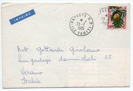 COVER DEAR DOCTOR TYPE PUBL. ERITROCINA / ABBOTT-POLYNESIE FRANC./THEMATIC STAMPS-FRUIT 1965 - Polinesia Francese