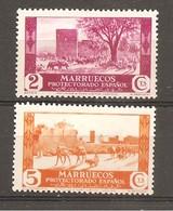 Marruecos Español - Edifil 148-50 - Yvert 218-20 (MH/*) - Marruecos Español