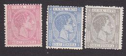 Cuba, Scott #84-86, Mint No Gum, King Alfonso XII, Issued 1879 - Kuba (1874-1898)