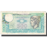 Billet, Italie, 500 Lire, KM:94, TTB - [ 2] 1946-… : République