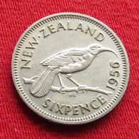 New Zealand 6 Pence 1956 KM# 26.2  Nova Zelandia Nuova Zelanda Nouvelle Zelande - Nouvelle-Zélande