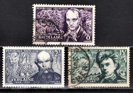 FRANCE 1951 - Y.T. N° 908 / 909 / 910 - OBLITERES - Used Stamps