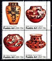 USA. N°1152-5 Sans Gomme De 1977. Poteries Des Indiens Pueblo. - American Indians