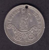 PERU - NICE SILVER MEDAL MUNICIPALIDAD DEL CALLAO - 1863 - Tokens & Medals