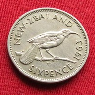 New Zealand 6 Pence 1963 KM# 26.2  Nova Zelandia Nuova Zelanda Nouvelle Zelande - New Zealand