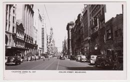 [22] MELBOURNE, Collins Street. Cars. Vintage Postcard. / Postal Antigua. / CPA - No Escrita. / Not Write / Non écrite. - Melbourne