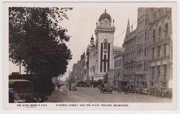 [23] MELBOURNE, Flanders St., State Theatre. Cars. Vingate Postcard / Postal Antigua / CPA. No Escrita. / Not Write - Melbourne