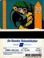 TARJETA TELEFONICA DE DINAMARCA. TDTD001, Parrot - Type 1 - 10.92 - CN2000 (085) - Denmark