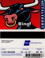 TARJETA TELEFONICA DE DINAMARCA. TDJD015, Bull - Ring, 05.95. CN1106 (083) - Dinamarca