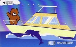Télécarte Japon / 110-016 - BD Comics - Animal Série OURS CHUO - Teddy BEAR Ship Dolphin  Japan Phonecard - 560 - Comics