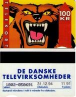 TARJETA TELEFONICA DE DINAMARCA. TDKD031, WOLF, CN1002, 11.91 (082) - Denmark