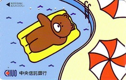 Télécarte Japon / 110-016 - BD Comics - Animal Série OURS CHUO BEAR ** Piscine Vacances **  - Japan Phonecard - 563 - Comics
