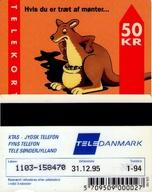 TARJETA TELEFONICA DE DINAMARCA. TDKD034B, KANGAROO, CN1103, 1.94 (071) - Dinamarca