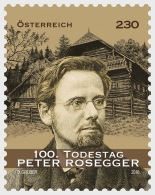 H01 Austria 2018 Peter Rosegger MNH Postfrisch - 1945-.... 2a Repubblica