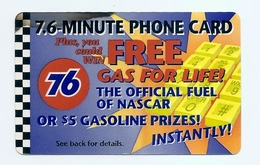 PHONECARD - 76 GASOLINE STATION - QUEST USED - NO VALUE - United States