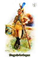 Carte Postale, Militaria, Napoleon, Uniformes De La Grande Armée, Dragons De La Garde Impériale, Trompette Des Dragons 2 - Uniformen