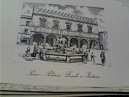 PESARO PALAZZAO DUCALE E FONTANA   DA ANTICA STAMPA  N1960 GU2613 LUNGA 16,5 X 12 - Pesaro