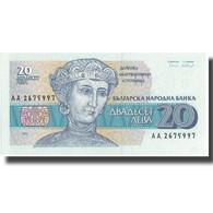 Billet, Bulgarie, 20 Leva, 1991, 1991, KM:100a, NEUF - Bulgarie