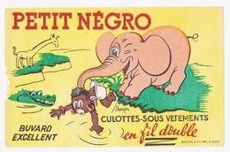 Buvard 21.9 X 14 PETIT NEGRO Culottes - Sous Vêtements éléphant Girafe Crocodile Illustrateur J. Berger - Textile & Clothing