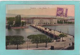 Old Postcard Of Les Quais,Geneve,Geneva, Switzerland,N14. - GE Geneva