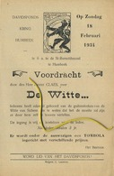 Humbeek -   1934 Voordracht Davidsfonds DE WITTE Ernest Claes  (formaat  21x14 Cm) - Announcements